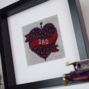 Dad Heart Tattoo Knitted Artwork