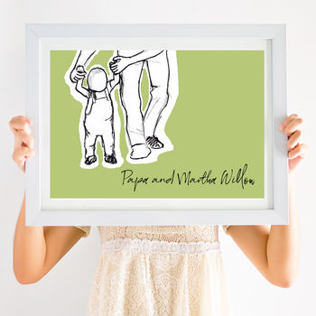 Daddy And Me First Baby Steps Print