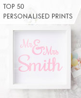 top 50 personalised prints