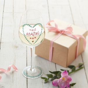 Mum Wine Glass