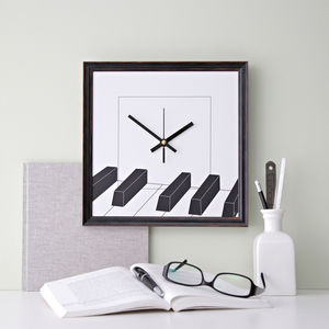 Piano Music Wall Clock