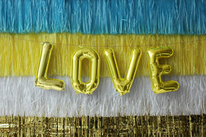 Gold 16 Inch Letter Balloon - best valentine's cards