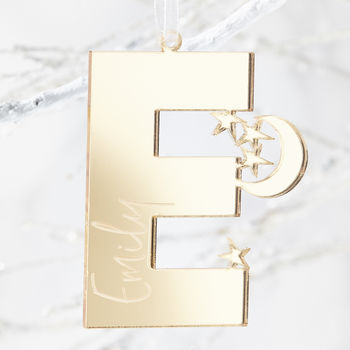 Star Initial Personalised Christmas Decoration