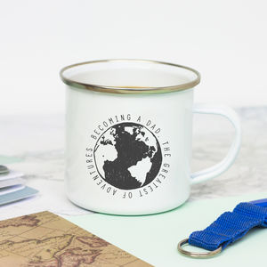 New Dad Enamel Mug - mugs