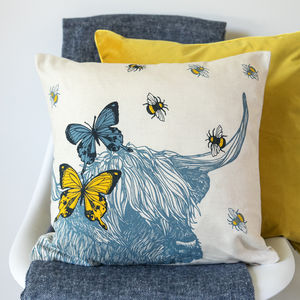 Highland Cow Cushion - cushions