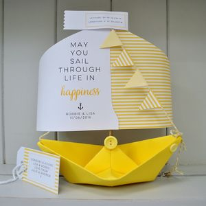 Wedding Paper Boat Card Gift Keepsake - shop by category