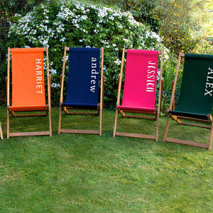 Personalised Plain Deckchair - garden