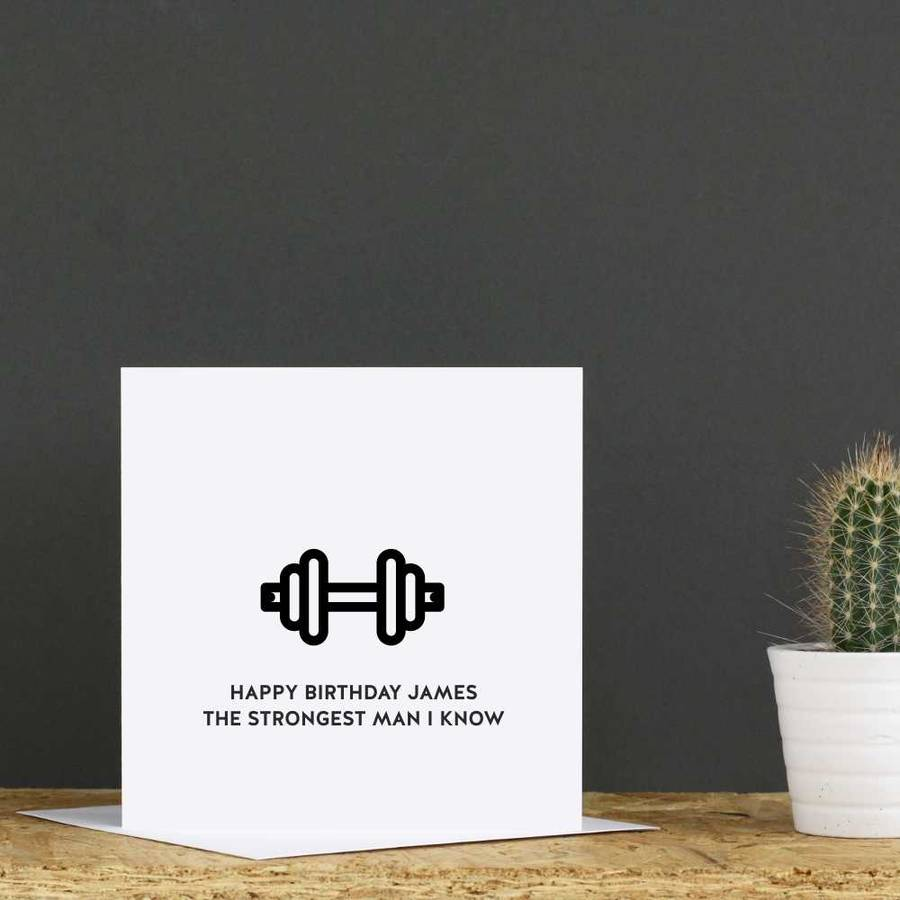 Personalised Gym Birthday Card By Jollysmith Notonthehighstreet