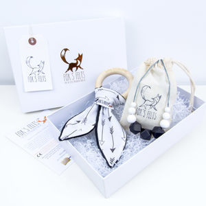 Mumma And Baby Arrows Teething Gift Set - boho clothing