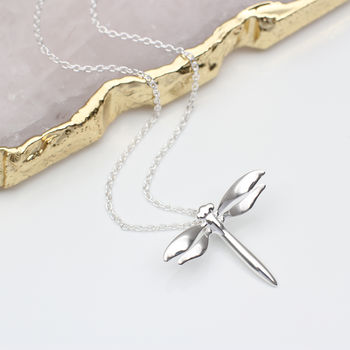 Personalised Sterling Silver Dragonfly Necklace