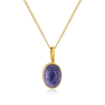 Merelani Cabouchon Tanzanite Pendant In 18ct Gold