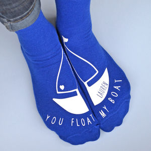 You Float My Boat Personalised Socks - women's fashion