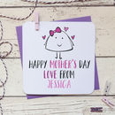 Personalised Happy Mother's Day Love From Card