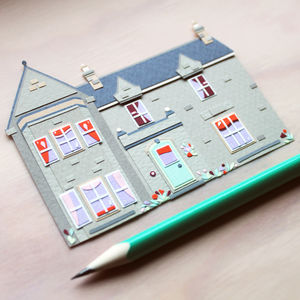 Personalised Miniature Paper House Portrait - drawings & illustrations