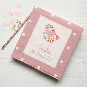Personalised New Baby Girl Keepsake Journal