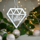 Personalised Geometric Baubles