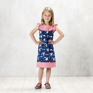Unicorns Over The Rainbow Flutter Sleeve Shift Dress - gifts for children