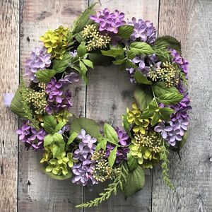 Hydrangea Floral Wreath - easter decorations