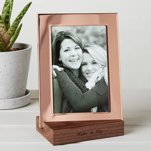 Copper Photo Frame With Personalised Stand - new in prints & art
