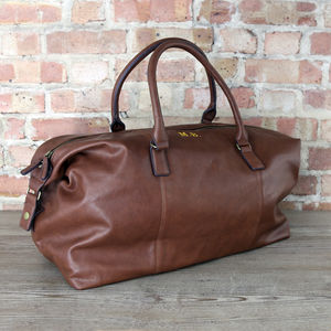 Personalised Vintage Weekend Holdall - bags & purses