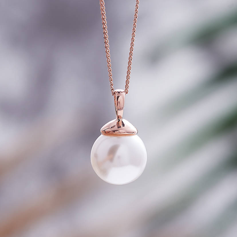 rose gold pearl necklace by claudette worters notonthehighstreetcom