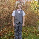 Ring Bearer Boy's Wedding Navy Slim Fit Suit