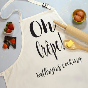 Oh Crepe! Cooking Apron - gifts for bakers