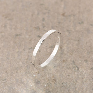 Moonstone Silver Stacking Ring June Birthstone - rings