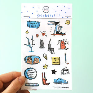 'Fun Illustrated Sticker Sheet'