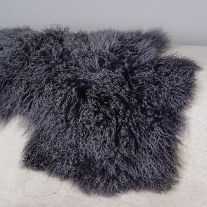 Organic Curly Lambskin Rug - summer sale
