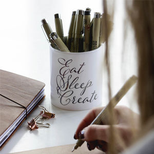 Creativity Quote Pen Holder Desk Tidy - desk accessories