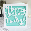 Personalised Stars Birthday Card
