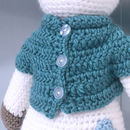 Hand Knitted Personalised Polar Bear Teddy