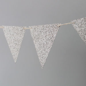 Silver Glitter Party Bunting - garlands & bunting