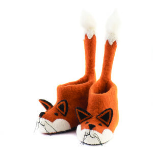 Finlay Fox Children's Felt Slippers - gifts: under £25