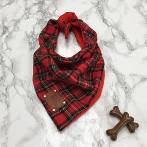 Timpa Luxury Tartan Dog Bandana Neckerchief - dogs