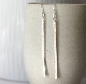 Handmade Silver Lace Dangly Earrings