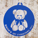 Personalised Bear Baby's First Christmas Decoration