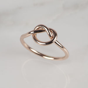 9ct Rose, Yellow Or White Gold Love Knot Ring - shop by occasion