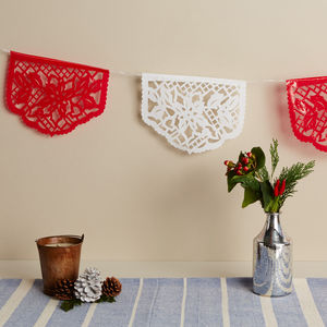 Mexican Poinsettia Christmas Bunting - garlands & bunting