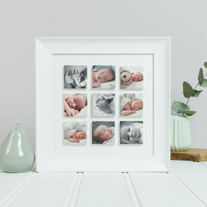 Personalised 'Our Baby' Clay Photo Tile Frame - brand new partners