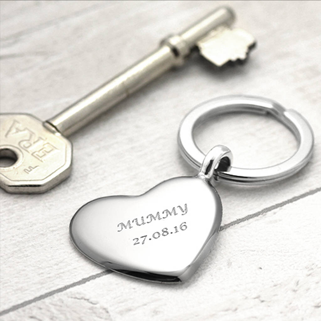 8a38b5545e4f silver key ring heart design by hersey silversmiths ...