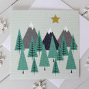 Winter Forest Christmas Card