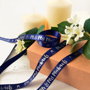 Wedding 15mm Personalised Printed Ribbon - wedding favours