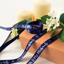 Wedding 15mm Personalised Printed Ribbon