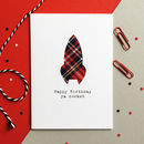 'Happy Birthday Ya Rocket' Scottish Tartan Card