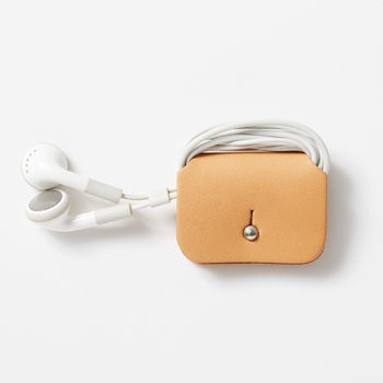 Beige Leather Headphone Keeper
