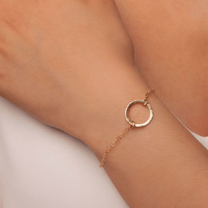 Gold Or Silver Karma Disc Bracelet - jewellery gifts for friends