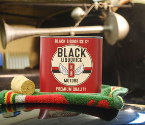 Liquorice Motors Tin Burgundy