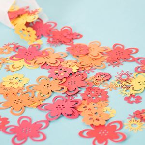 Tropical Flower Table Confetti - table decorations